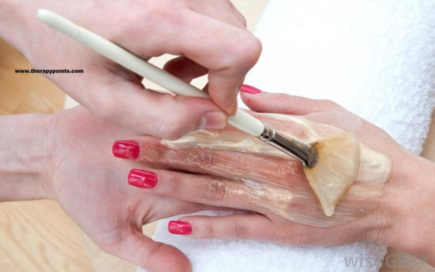 Wax therapy brushing method